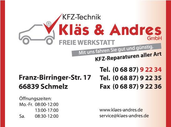 KLÄS & ANDRES KFZ-TECHNIK GMBH